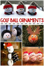 Golf Ball Decorations Christmas Golf Ball Ornament Ideas never thought making crafts 17