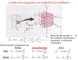 derive the heat equation in cylindrical coordinates the equations on this next picture should be helpful