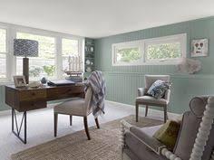 coastal home office 1 walls stratton blue hc 142 trim blue home office dark wood