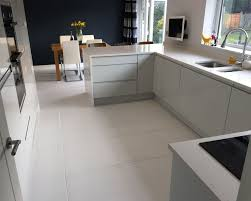 White Floor Tiles Kitchen Emmas Stylish Kitchen Diner White Matt Floor Tiles Walls And
