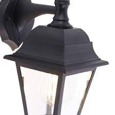 classic outdoor wall lamp black