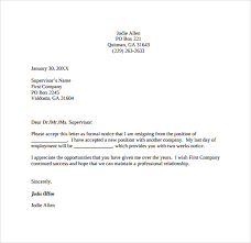 15 exle of a two week notice statement letter