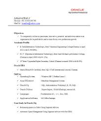 resume templates - Oracle Dba Resume Samples
