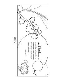 Seventh Day Of Creation Coloring Pages Unique Days Creation Coloring