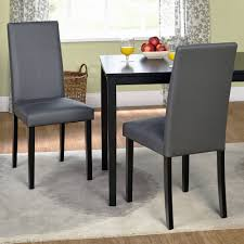 image of faux leather parson dining chair set of 2 walmart regarding parson dining chairs
