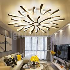 Image Dining Chairs Lightingocouk Personality 15 Lights Elegant Modern Flush Mount Ceiling Lights Living Room Dining Room Bedroom