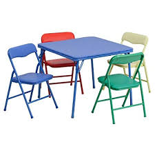 plastic metal chairs. Flash Furniture Kids Colorful 5 Piece Folding Table And Chair Set Plastic Metal Chairs