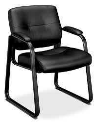 guest chair. BASYX Leather Steel Sled Base Guest Chair