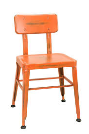 industrial restaurant furniture. Simon Industrial Chair In Distressed Orange Industrial Restaurant Furniture
