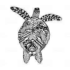 Zentangle стилизованные черепахи эскиз татуировки или футболка для