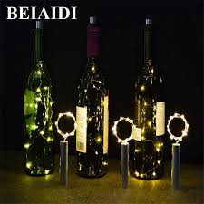Light Bistro Us 1 58 30 Off Beiaidi Wine Bottle Stopper Cork Light 2m 20led Battery Copper Wire String Light Bistro Bottle Starry Garland For Xmas Bar Party In
