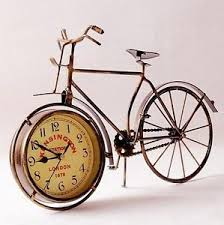 metal wall art old fashioned bicycle clock ornament