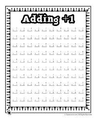 Adding 1 Worksheets Kindergarten | Ungkirke.com