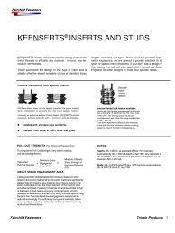 75 Systematic Keensert Installation Chart
