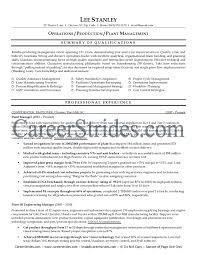 plant superintendent resume