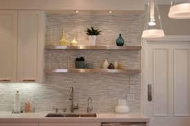 backsplash ideas for kitchen. Plush Modern Kitchen Tile Backsplash Combined With Metal Wall Shelves Ideas For C
