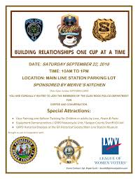 coffee with a cop to be held on saay september 22nd