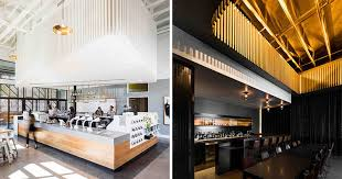 Texas design firm OFFICIAL have created a unique coffee shop and cocktail  bar design in Dallas