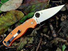 Коллекционная оранжевый <b>Spyderco складные ножи</b> - огромный ...