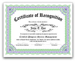 Employee Recognition Certificate Templates Free Download