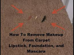how to remove makeup from carpet you