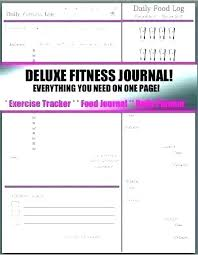 Diet And Exercise Journal Printable Exercise Journal Template