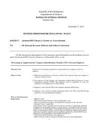 Bir Citizen S Charter Notary Public Taxes