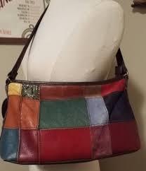 45 00 vintage leather patchwork style wilson s leather handbag