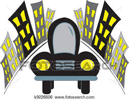 car driving away clip art. Fine Car Simple Drawing Of A Car Driving Away From The City With Lights On With Car Driving Away Clip Art