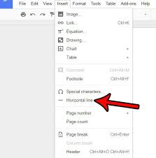 horiztal how to insert a horizontal line in google docs solve your tech