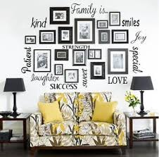 la foto se est cargando familia vinilo letras palabras pared arte citar sticky  on wall art lettering words with family is vinyl lettering words wall art quote sticky decals sticker