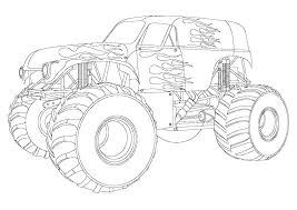 Monster Truck Coloring Pages Printable Monster Truck Coloring Pages