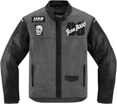motorcycle jacket textile size m college design icon vinte stickup skull new