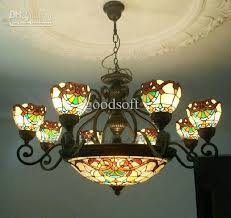 tiffany art colorful glass chandelier vintage style glass with regard to elegant home colored glass chandelier prepare