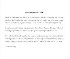 Examples Of Resignations Letters Example Of Resigning Letter ...