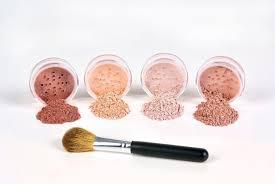 5pc blush set with brush mineral makeup kit bare face sheer powder highlight