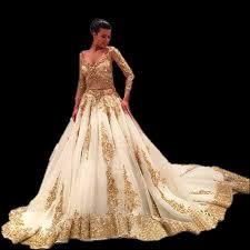 chic gold wedding dresses popular white gold wedding dresses buy