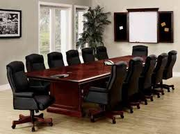 elegant office conference room design wooden. Long Wood Conference Table For Twelve Peop. Elegant Office Room Design Wooden