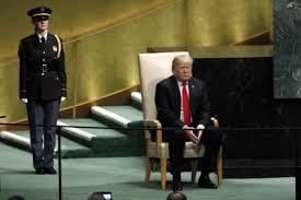 「president speech in the UN Sept.25, 2018 」の画像検索結果