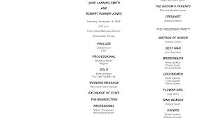 Wedding Reception Program Templates Wedding Program Wording Template Simplish Info