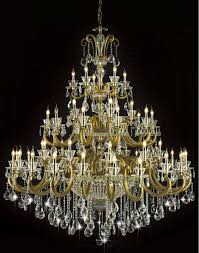 free antique brass color large crystal chandelier lighting with 55 lamps for hotel lobby foyer md1038d