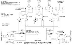 s qrp open wire twinlead antenna switch a complete wiring diagram