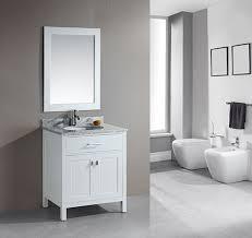 element contemporary bathroom vanity set: design element london single  inch white modern bathroom vanity set