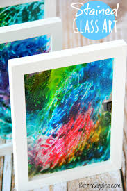 stained glass art a super simple project that uses glue and food coloring to produce