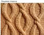 Крупные жгуте в вязании