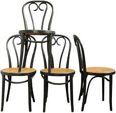 thonet a16 style bentwood chairs set of 4 on chairish com
