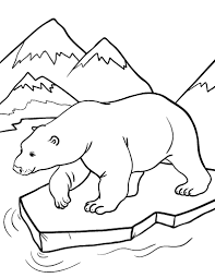 Small Picture Printable polar bear coloring page Free PDF download at http