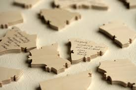 wooden blocks wedding guest book puzzles how many pieces do i order