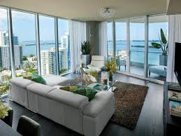Urban Living Room Design Living Room With Waterfront View Night Or Day This Urban Living