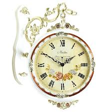 two sided wall clock a modern